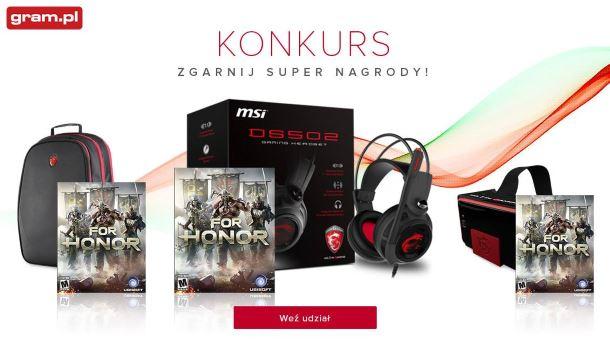 Konkurs: Wygraj gry For Honor oraz sprzęt i gadżety MSI