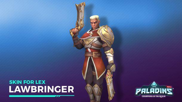 Giveaway: Rozdajemy skina Lawbringer do bohatera Lex w grze Paladins!