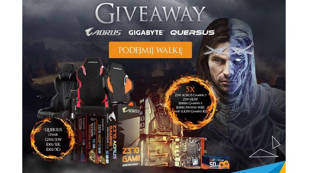 Konkurs: Do wygrania płyty główne Gigabyte i gamingowe fotele Quersus