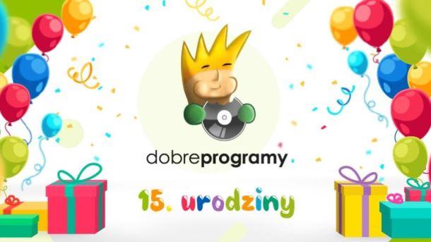 Konkurs: Dziesiątki nagród do zdobycia z okazji 15. urodzin serwisu dobreprogramy.pl