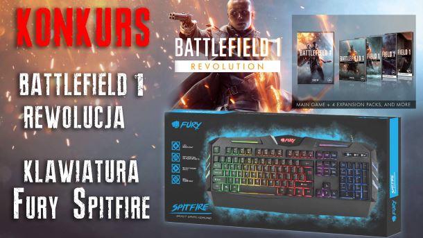 Konkurs: Do wygrania klawiatura Fury Spitfire oraz gra Battlefield 1: Rewolucja