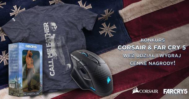 Konkurs: Do wygrania myszka Dark Core RGB, figurka, koszulki i klucze do gry Far Cry 5