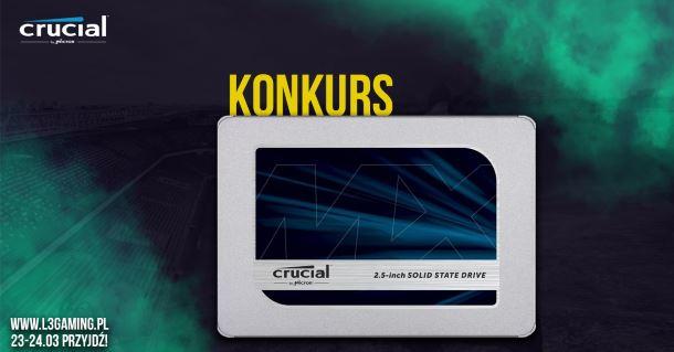 Konkurs: Wygraj dysk SSD Crucial MX500 250 GB!