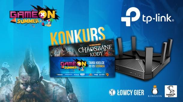 Konkurs: Do wygrania router TP-Link Archer C4000, klucze do Warhammer Chaosbane i wejściówki na GameON 2019 Kielce!